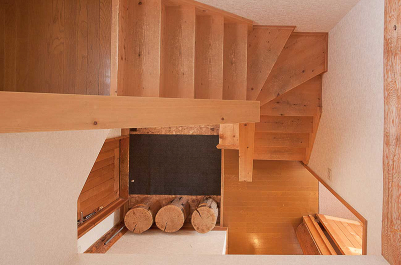 Silver Birch Up Stairs View from Top | Upper Hirafu