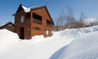 The Chalets at Country Resort Outdoor View with Snow | West Hirafu