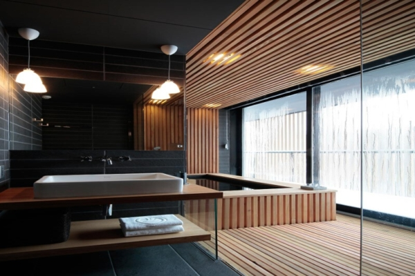 Yasuragi Bathroom with Onsen   Lower Hirafu