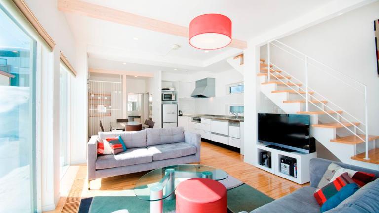 Yamabiko Hirafu Living Area with TV | Lower Hirafu
