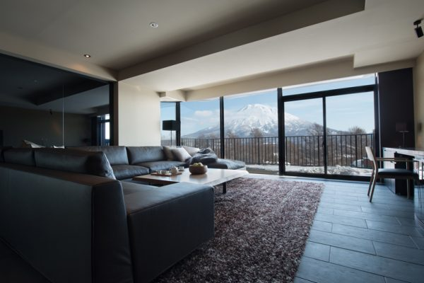 Muse Niseko Spacious Living Area with Mountain View | Middle Hirafu