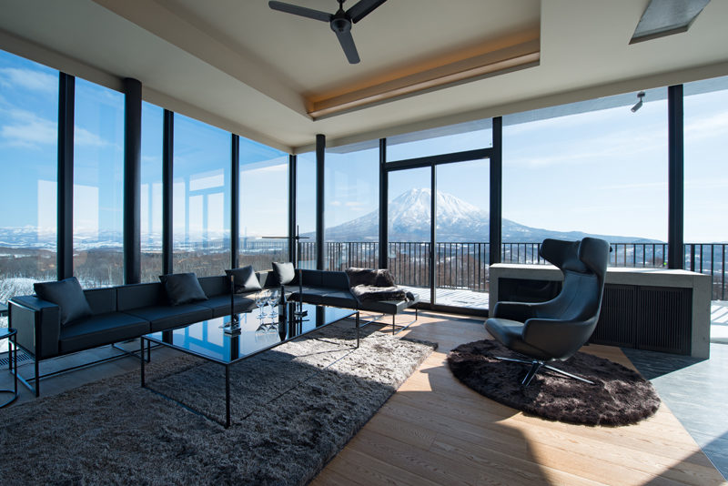 Muse Niseko Living Area with Mountain View | Middle Hirafu