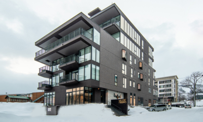 Muse Niseko Exterior with Snow | Middle Hirafu