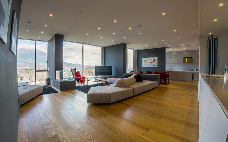 4-Bedroom Yotei Panorama Penthouse - living area