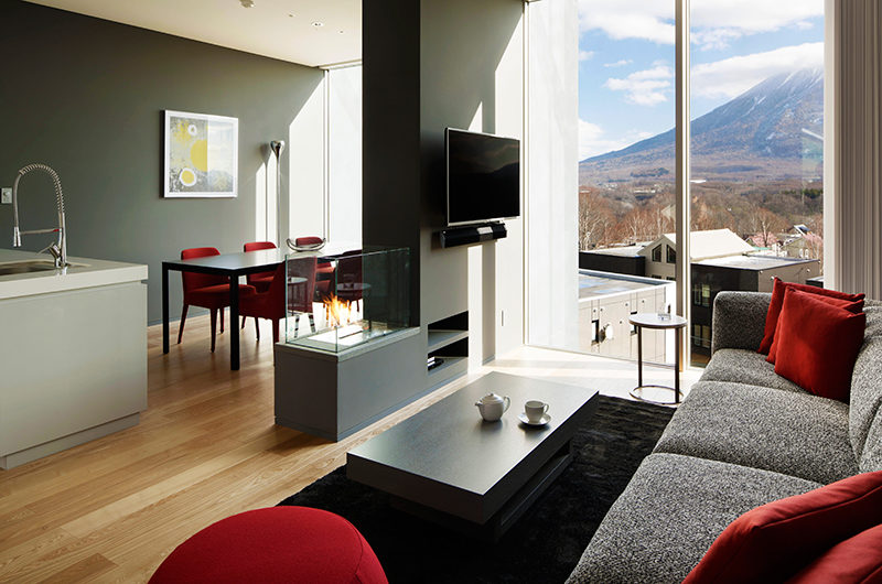 Terrazze Niseko Two Bedroom Yotei Deluxe Living Area | Middle Hirafu
