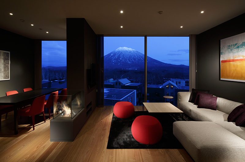 Terrazze Niseko Three Bedroom Yotei Deluxe Living Area | Middle Hirafu