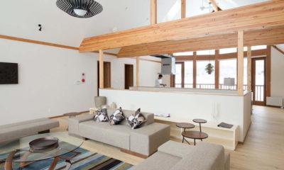 Eagle's Nest Living Area with Carpet | West Hirafu