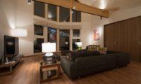 Kuromatsu Living Area with TV | West Hirafu