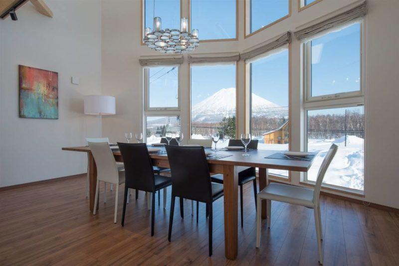 Kuromatsu Dining Area with Mountain View | West Hirafu
