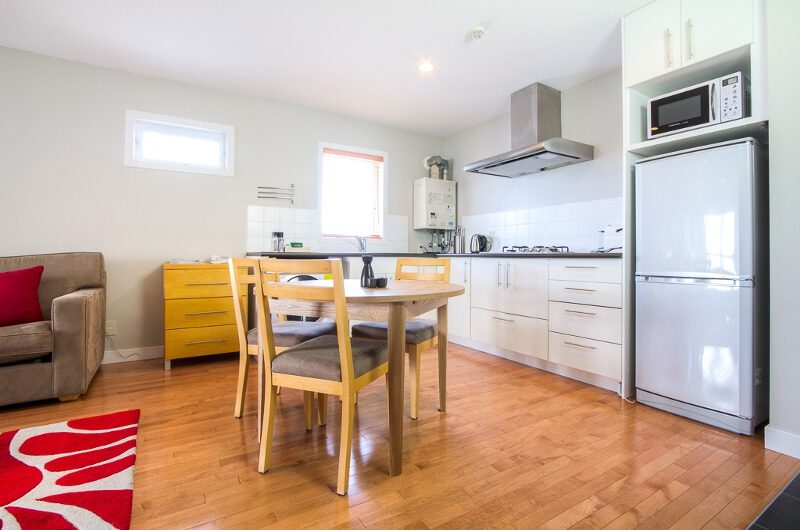 Fresh Powder Niseko Kitchen Area with Wooden Floor | Upper Hirafu