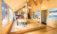 Potato Lodge Niseko Living and Dining Area with Wooden Floor | Lower Hirafu