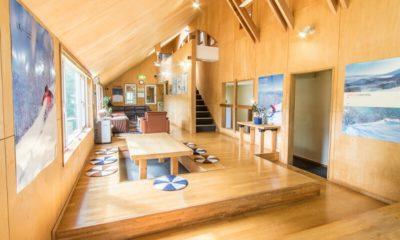 Potato Lodge Niseko Living and Dining Area with Wooden Floor   Lower Hirafu