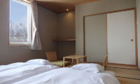 Ebina Chalet and Lodge Bedroom with Outdoor View | Moiwa