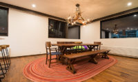 Gustavs Hideaway Dining Area with Wooden Floor | Lower Hirafu