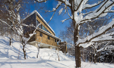 Kawasemi Residence Outdoor Area with Snow | Lower Hirafu