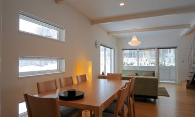 Baw Baw Sansou Living and Dining Area   Middle Hirafu Village