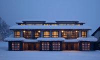 Kasara Townhouses External Night | Niseko Village