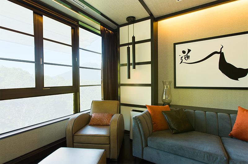 Kasara Townhouses Lounge Area with Window | Niseko Village