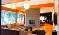 Akari Living Area near Fireplace | Outer Hirafu