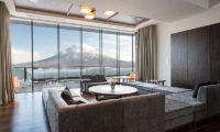 Ki Niseko Living Area with Mountain View | Upper Hirafu