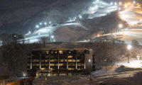Ki Niseko Outdoor Area at Night | Upper Hirafu