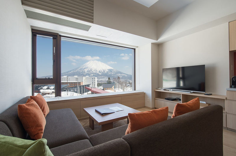 Ki Niseko Lounge Area with TV | Upper Hirafu