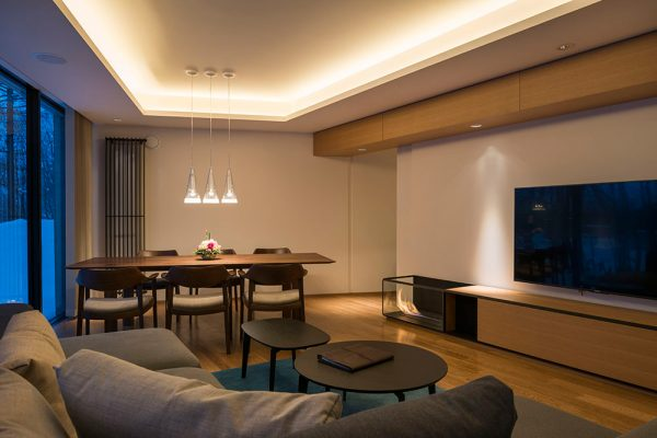 Kozue Living Area with TV | Middle Hirafu
