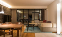 Kozue Living and Dining Area at Night | Middle Hirafu