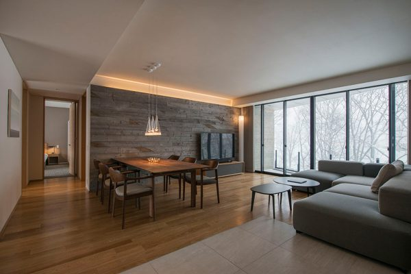 Kozue Living and Dining Area with Wooden Floor | Middle Hirafu