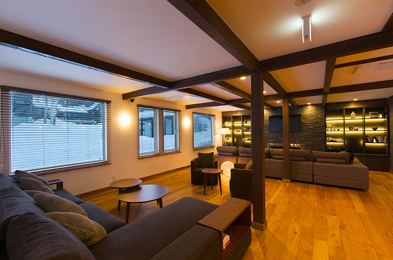Gresystone Spacious Living Area with Wooden Floor | Lower Hirafu