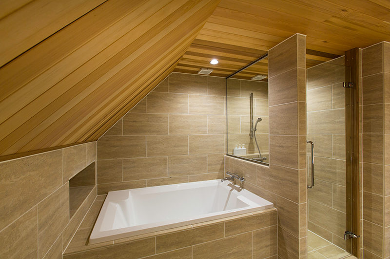Gresystone Bathroom with Bathtub and Shower | Lower Hirafu