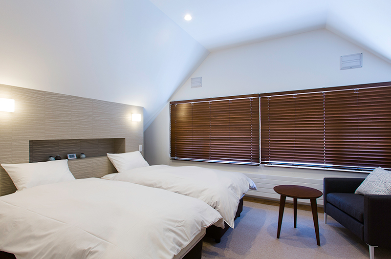 Gresystone Spacious Twin Bedroom | Lower Hirafu