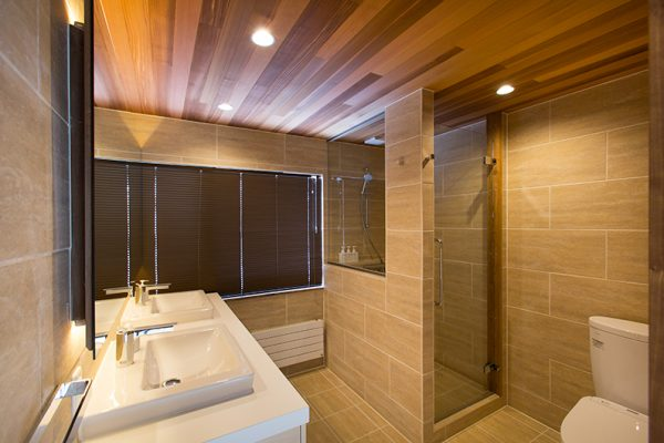 Gresystone His and Hers Bathroom | Lower Hirafu
