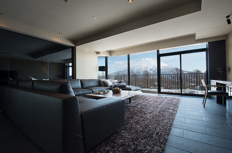 Muse Niseko Mountain View from Living Area | Middle Hirafu