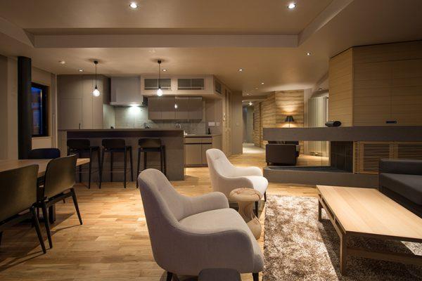 Aspect Niseko Living Area with Wooden Floor | Middle Hirafu Village