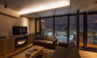 Aspect Niseko TV Area at Night | Middle Hirafu Village