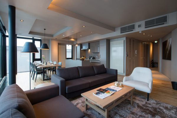 Aspect Niseko Living and Dining Area | Middle Hirafu Village