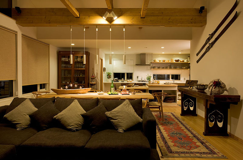 Chalet Murasaki Living and Dining Area with Wooden Floor | Upper Hirafu