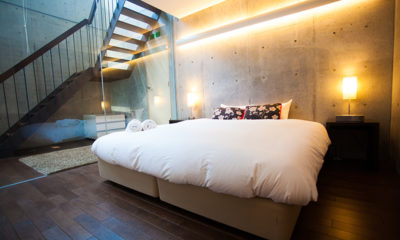 Full Circle Bedroom with Up Stairs | Middle Hirafu