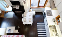 Nupuri Cottage Kitchen and Dining Area Top View | Lower Hirafu