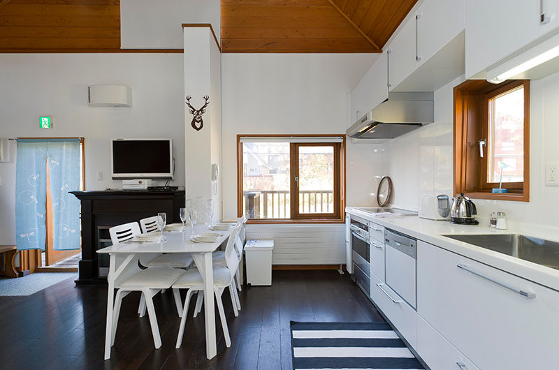 Nupuri Cottage Kitchen and Dining Area | Lower Hirafu