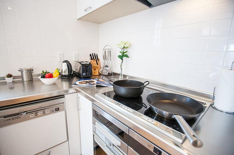 Powder Haven Kitchen with Utensils | Lower Hirafu