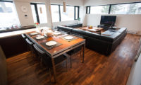Shikaku Apartments Living and Dining Area with TV | Middle Hirafu