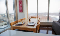 Snow Crystal Dining Area with Outdoor View | Upper Hirafu