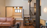 Tahoe Lodge Japanese Style Living Room near Stairs   East Hirafu