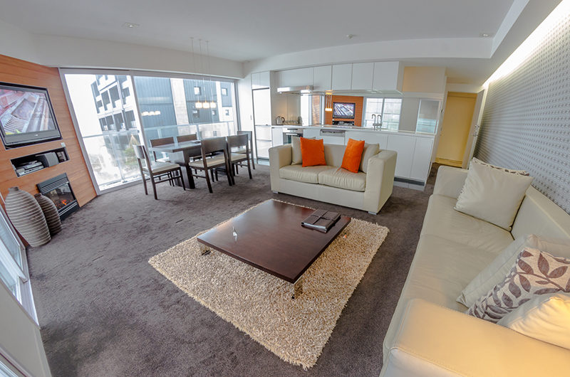 The Setsumon Spacious Living and Dining Area with Carpet | Upper Hirafu