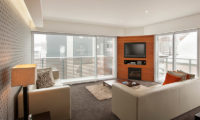 The Setsumon Living Area with TV | Upper Hirafu