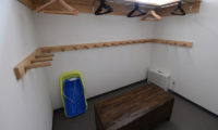 Toshokan Townhouses Drying Room with Seating Area | Middle Hirafu