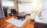 Yuki Yama Apartments Living Area with TV | Middle Hirafu