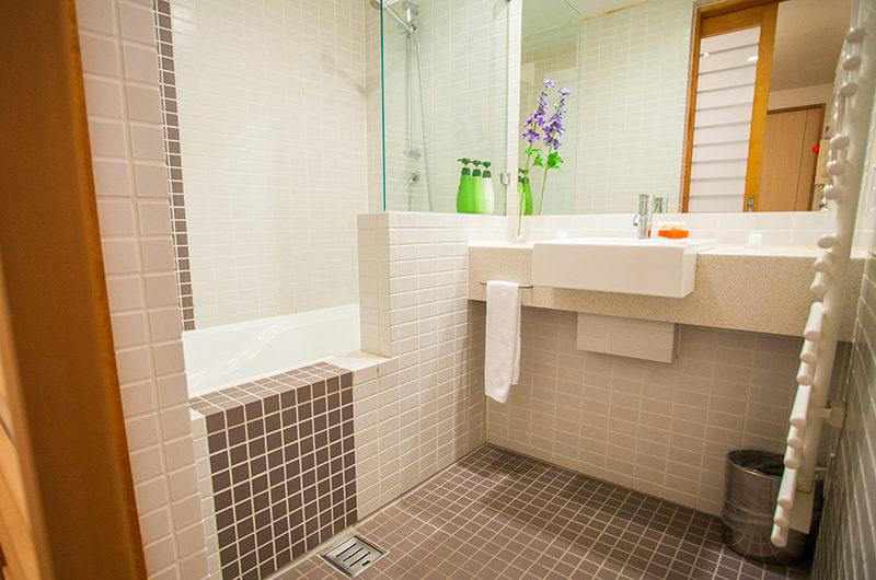 Yuki Yama Apartments Bathroom with Mirror | Middle Hirafu